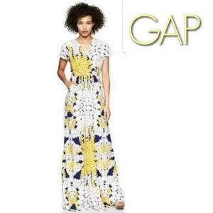 GAP Dawn floral summer maxi dress & pockets